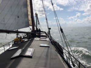 zeilschip klipper nova cura op de Waddenzee