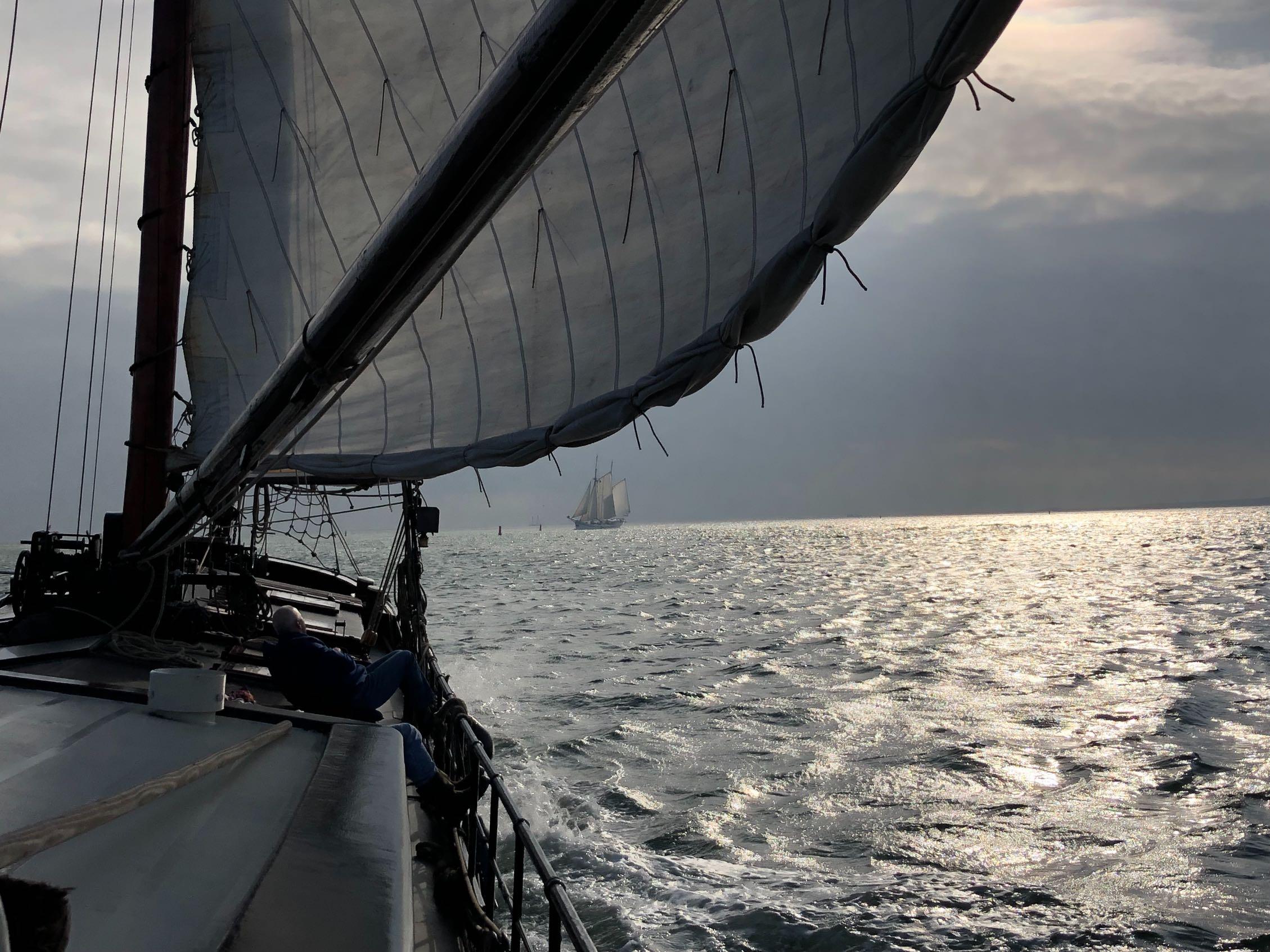 zeilschip klipper nova cura gereefd zeil