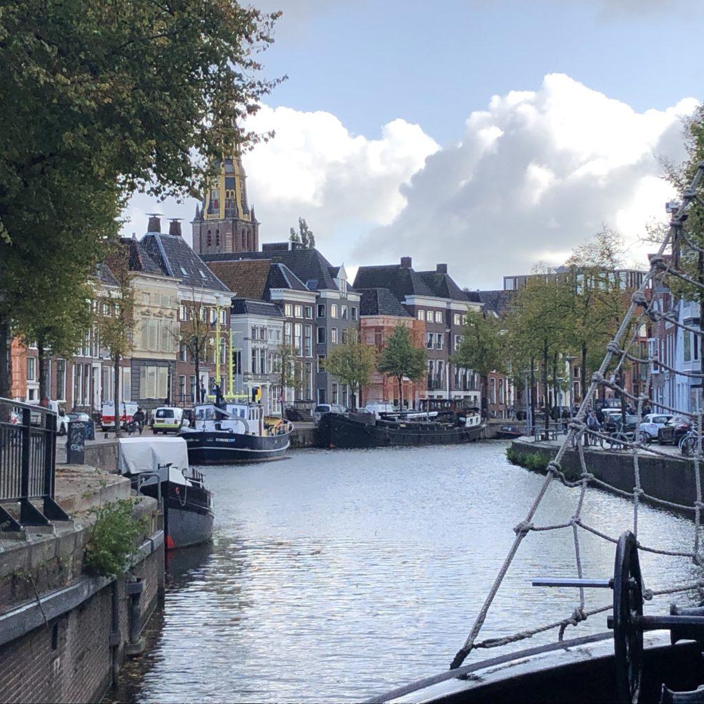 Klipper nova cura Groningen binnenkomst, zeilschip, klipper